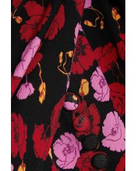 Magda Butrym - Red Gela Asymmetric Printed Silk-crepe Midi Dress - Lyst