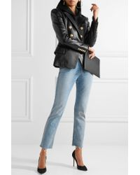 Balmain | Multicolor Double-breasted Leather Blazer | Lyst