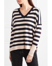 J.Crew - White Rosalyn Striped Cashmere Sweater - Lyst