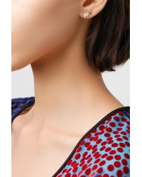 Jennifer Meyer - Metallic 18-karat Gold, Diamond And Emerald Earrings - Lyst