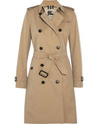 Burberry | Natural The Kensington Long Cotton-gabardine Trench Coat | Lyst
