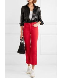 3x1 - W4 Shelter Cropped High-rise Flared Jeans - Lyst