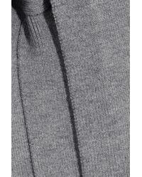 Victoria, Victoria Beckham - Gray Side-tie Wool Turtleneck Top - Lyst