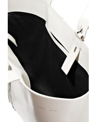 Kara - White Leather Tote - Lyst