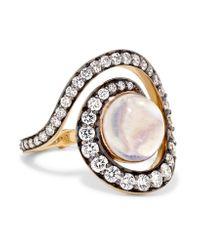 Noor Fares - Metallic Planet Spiral 18-karat Gold Multi-stone Ring Gold 7 - Lyst