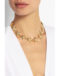 Valentino - Metallic Gold-Tone Necklace - Lyst