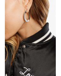 Jennifer Fisher - Metallic Mini Drew Silver-plated Hoop Earrings - Lyst