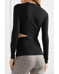 Elizabeth and James - Black Kelton Cutout Stretch-knit Top - Lyst
