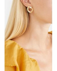 Rosantica - Metallic Ingranaggio Gold-tone Pearl Earrings Gold One Size - Lyst