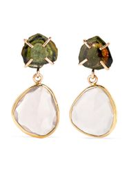 Melissa Joy Manning | Metallic 14-karat Gold, Tourmaline And Quartz Earrings | Lyst