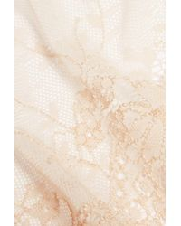 Stella McCartney - Natural Smooth & Lace Stretch-jersey And Lace Briefs - Lyst