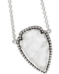 Pamela Love - Metallic Arrowhead Silver Quartz Necklace - Lyst