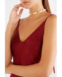 Arme De L'Amour - Metallic Halo Gold-plated Choker Gold One Size - Lyst
