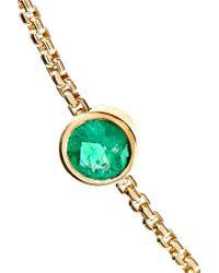Jemma Wynne - Metallic 18-karat Gold Emerald Bracelet - Lyst