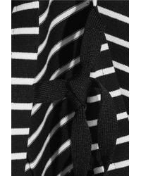 3.1 Phillip Lim - Black Striped Cotton-jersey Top - Lyst