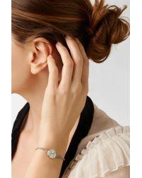 Carolina Bucci - Metallic Pisces Lucky Zodiac 18-karat White Gold, Diamond, Mother-of-pearl And Silk Bracelet - Lyst