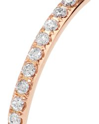 Ileana Makri - Metallic Thread 18-karat Rose Gold Diamond Eternity Ring - Lyst