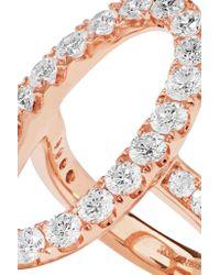 Anita Ko - Metallic Oval Halo 18-karat Rose Gold Diamond Ring - Lyst