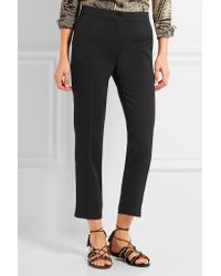 Etro - Black Capri Stretch-crepe Slim-leg Pants - Lyst
