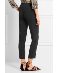 Etro - Black Capri Stretch-crepe Slim-leg Pants - Lyst