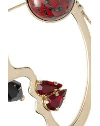 Etro - Metallic Gold-plated Swarovski Crystal Brooch - Lyst
