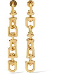 Eddie Borgo - Metallic Fame Link Gold-plated Earrings - Lyst