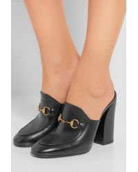 Gucci - Black Horsebit-detailed Leather Mules - Lyst