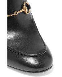 Gucci - Black Horsebit-detailed Leather Mules - Lyst