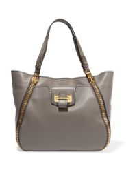 Tom ford sedgewick medium textured leather tote in gray lyst for Porte 70x200