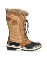 Sorel | Natural Tofino Waxed Canvas And Leather Boots | Lyst