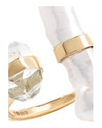 Melissa Joy Manning - Metallic 14-karat Gold, Herkimer Diamond And Pearl Ring - Lyst
