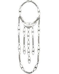 DANNIJO - Metallic Loire Silver-plated Necklace - Lyst