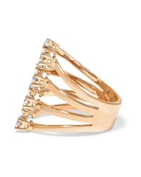 Delfina Delettrez - Multicolor 18-karat Rose Gold Diamond Ring - Lyst