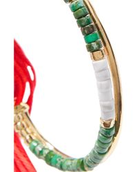 Aurelie Bidermann - Green Sioux Gold-plated, Jasper, Bamboo And Cotton Cuff - Lyst