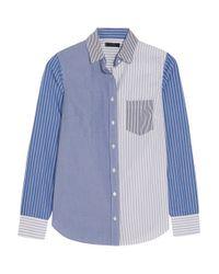 J.Crew - Blue Cocktail Striped Cotton-poplin Shirt - Lyst