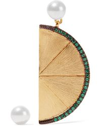 Aamaya By Priyanka | Metallic Large Lime Gold-plated | Lyst