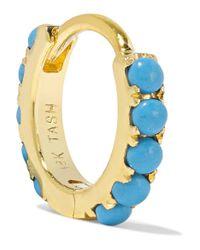 Maria Tash | Blue 14-karat Gold Turquoise Earring | Lyst