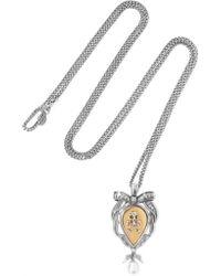 Alexander McQueen | Metallic Palladium-tone Pearl Necklace | Lyst