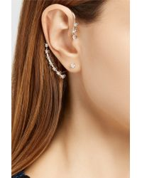 Delfina Delettrez - Multicolor 18-karat White Gold Diamond Ear Cuff - Lyst