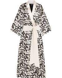 Olivia Von Halle - Black Queenie Long Robe - Lyst