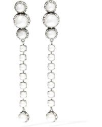 Lanvin | White Burnished Silver-plated, Faux Pearl And Swarovski Crystal Clip Earrings | Lyst