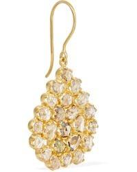 Pippa Small - Metallic 18-karat Gold Diamond Earrings - Lyst
