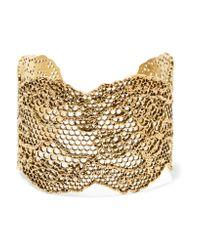 Aurelie Bidermann   Metallic Vintage Lace Cuff Bracelet   Lyst