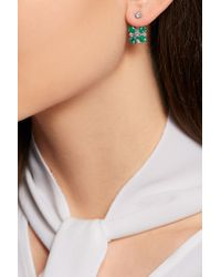 Yvonne Léon | Multicolor 18-karat White Gold, Emerald And Diamond Earring | Lyst