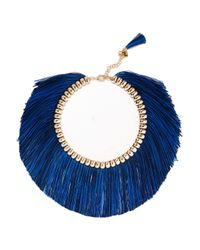 Rosantica | Blue Atena Fringed Gold-tone Necklace | Lyst