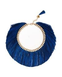 Rosantica - Blue Atena Fringed Gold-tone Necklace - Lyst