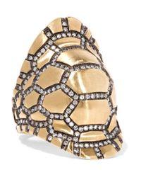 Venyx | Metallic Tortuga 9-karat Gold Diamond Ring | Lyst