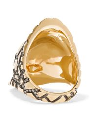 Venyx - Metallic Tortuga 9-karat Gold Diamond Ring - Lyst