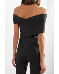 Beaufille - Black Hercules Off-the-shoulder Stretch-cotton Top - Lyst
