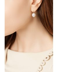 Mizuki | Metallic 14-karat Gold Pearl Earrings | Lyst